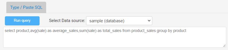 create sql dashboard report