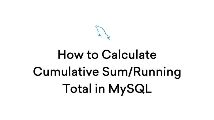 calculate cumulative total in mysql