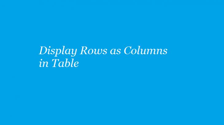 display row values columns mysql