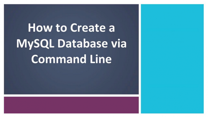 create database in mysql