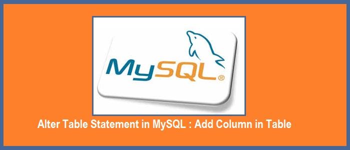 mysql add column