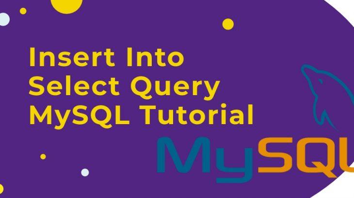 MySQL Insert into select