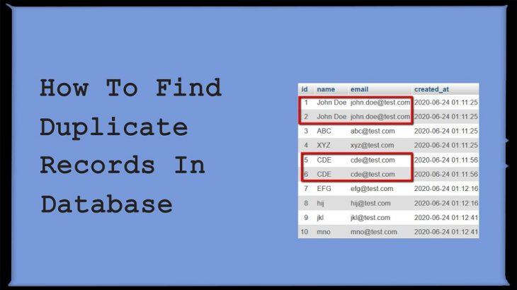 how to remove duplicate records in mysql