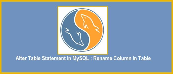 mysql rename column