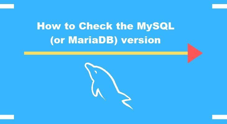 how to check mysql version