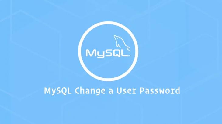 mysql change user password