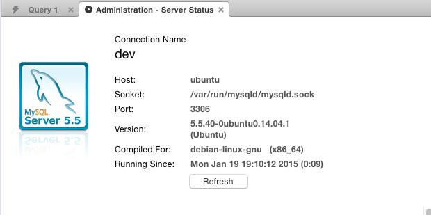 check mysql version number in workbench