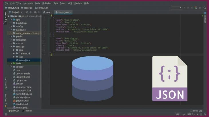 how to store json data in mysql