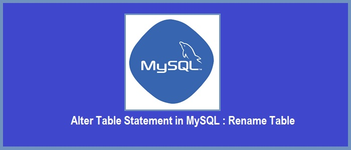 rename table in mysql
