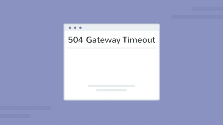 fix 504 gateway timeout error in apache