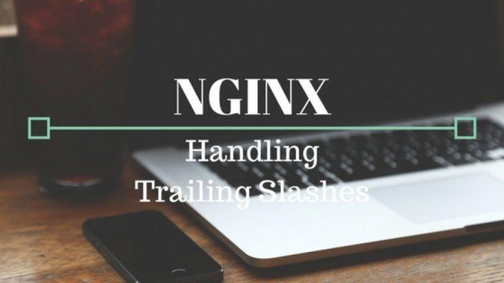 remove nginx trailing slash